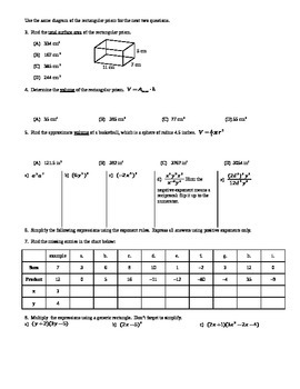 Factoring Polynomials Part 1 for Algebra Spring 2014 (Editable)