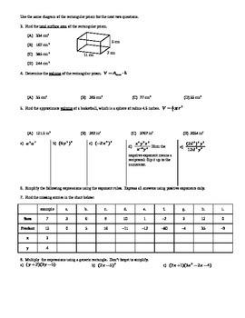Factoring Polynomials Part 1 for Algebra Spring 2014 (Editable)