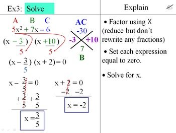 Factoring Polynomials Power Point 5-Lesson Pack
