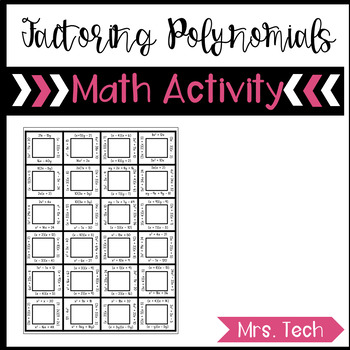 Factoring Polynomials Puzzle Worksheets & Teaching Resources | TpT
