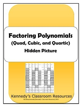 Factoring Polynomials (Quad, Cubic, Quartic) - Hidden Picture