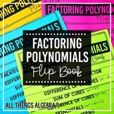 Factoring Polynomials Review Flip Book (Algebra 2)