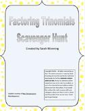Factoring Trinomials (a=1) Scavenger Hunt