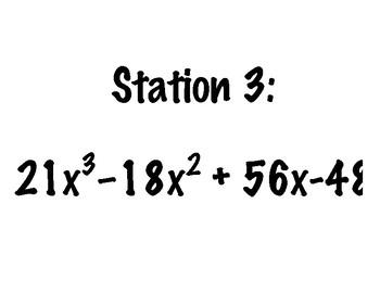 Factoring Polynomials Stations