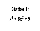 Factoring Polynomials Stations