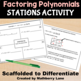 Factoring Polynomials Stations Activity - Review Test Prep  Practice