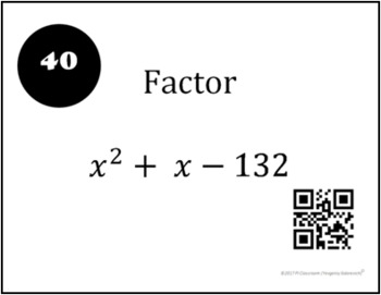 Factoring Polynomials TASK Cards