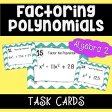 Factoring Polynomials Activity - Task Cards