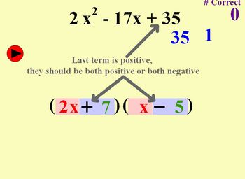 Factoring Polynomials (Trinomials) - Individualized Practice