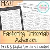 Factoring Polynomials (Trinomials) Worksheet - Advanced Maze Activity