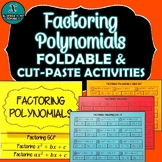 FOLDABLE & INB MATCHING ACTIVITY - Factoring GCF & Polynomials