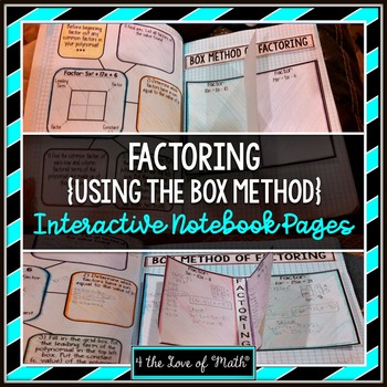 Factoring Polynomials Using the Box Method Interactive Not
