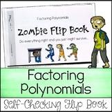 Factoring Polynomials - Zombie Flip Book