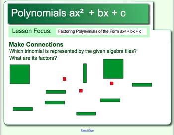 Factoring Polynomials ax2 + bx + c Lesson