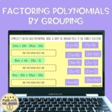 Factoring Polynomials by Grouping Digital Drag & Drop Activity
