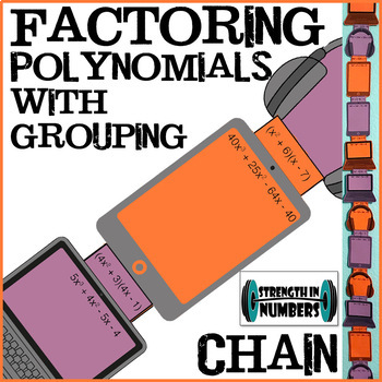 Factoring Polynomials with Grouping - Tech Paper Chain for Display