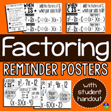 Factoring Quadratics Posters and Student Handouts