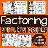 Factoring Quadratics Posters and Student Handouts