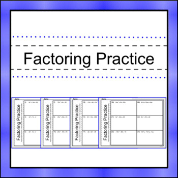 Factoring Practice