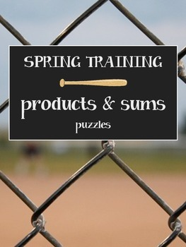 Factoring Prep - SPRING TRAINING products and sums