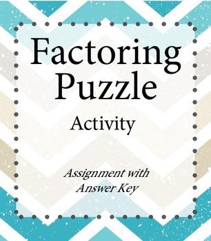 Factoring Puzzle Activity
