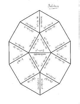 Factoring Puzzle (Tarsia)