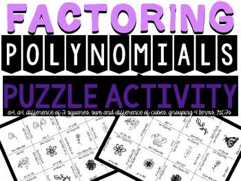 Factoring Puzzle (all methods)