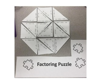 Factoring Puzzle (moderate Difficulty)