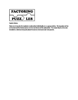 Factoring Puzzles