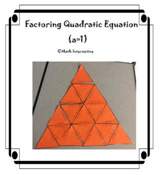 Factoring Quadratic Equation (a=1)