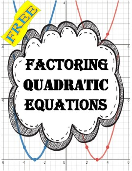 Factoring Quadratic Equations Worksheet