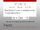 Factoring Quadratic Equations - Zero Product Property