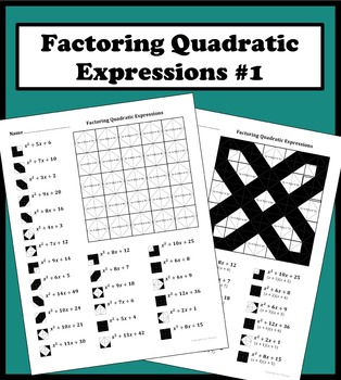Factoring Quadratic Express... by Aric Thomas | Teachers Pay Teachers