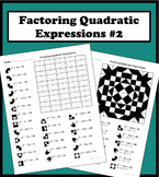 Factoring Quadratic Expressions Color Worksheet #2