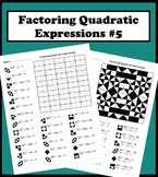 Factoring Quadratic Expressions Color Worksheet #5