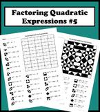 Factoring Quadratic Expressions Color Worksheet #5