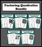 Factoring Quadratic Expressions Color Worksheet Bundle