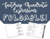 Factoring Quadratic Expressions Foldable