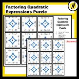Factoring Quadratic Expressions Matching Puzzle