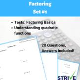Factoring Quadratic Expressions - Set #1