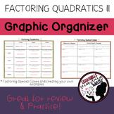 Factoring Quadratics Graphic Organizer II
