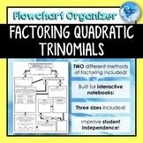 Factoring Quadratic Trinomials *Flowchart* Graphic Organizer