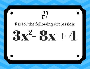 Factoring Quadratic Trinomials (a>1) Room Walk Activity