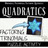 Quadratic expressions - Factor Quadratic Expressions Puzzle Activity
