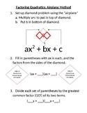 Factoring Quadratics - Airplane Method Template