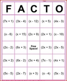 Factoring Quadratics BINGO Game