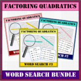 Factoring Quadratics BUNDLE Word Search #1-3