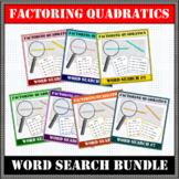 Factoring Quadratics BUNDLE Word Search #1-7