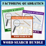 Factoring Quadratics BUNDLE Word Search #4-6