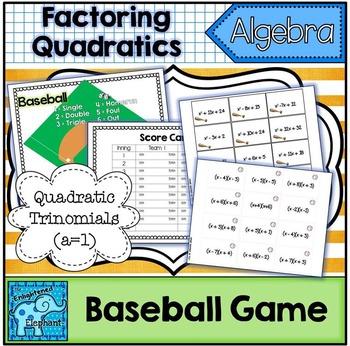 Factoring Quadratics Baseball Game